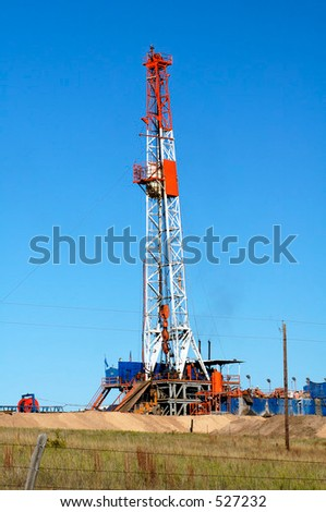 Oil drilling rig in the Texas Panhandle.