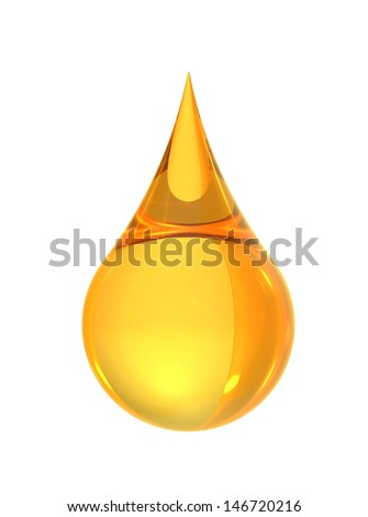oil drop isolate on white back ground