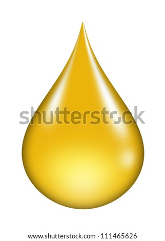 oil drop isolated