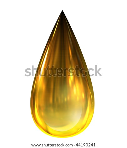 Oil Drop with reflections