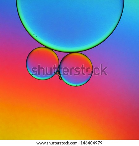Oil droplets abstract