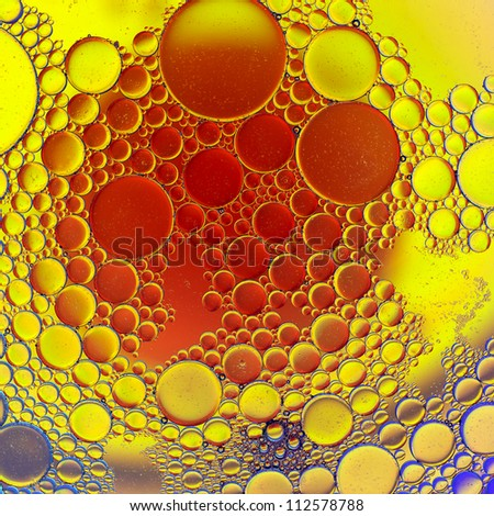 Oil droplets abstract image.