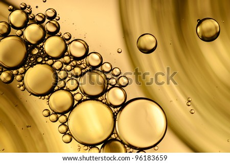 Oil drops on a water surface