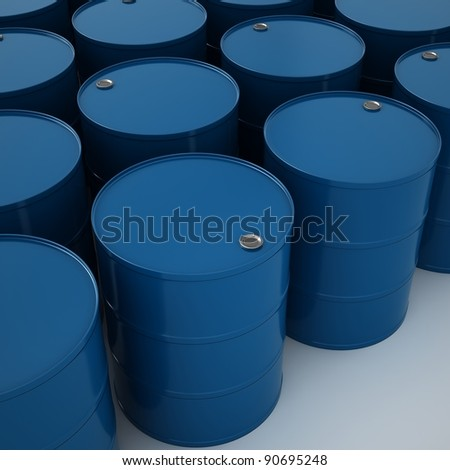 oil drums isolated on white.