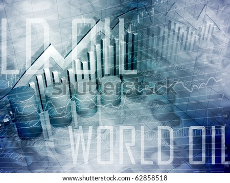 Oil Drums with World Oil Text - stock photo