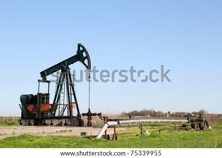 oil field with pump jack