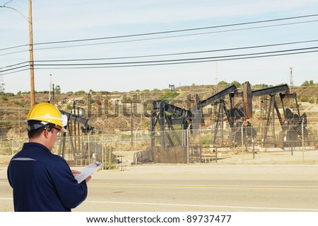 oil field worker on oil field