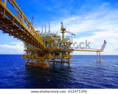 Oil&Gas Production Platform. Bridge to Production Platform.
