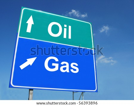 OIL--GAS road sign