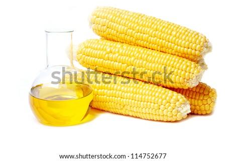 Oil in front of corns
