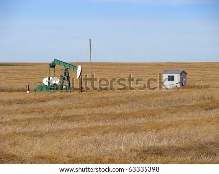 Oil ironhorse on the prairies