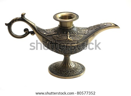 Oil lamp east design with egypt texture