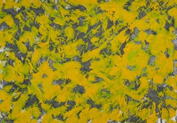 Oil painting abstrac texture.  oil painting floral for background. Modern art paintings chaotic abstarct with yellow gray color.  children painting style