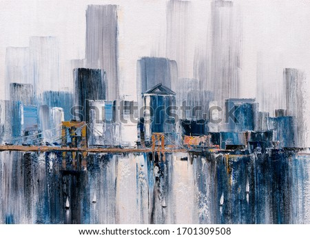 Oil Painting - Brooklyn Bridge, New York