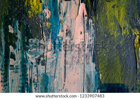 Oil Painting Canvas Abstract Texture Background Colorful Texture Degrade Colors Art Brush Stroke Texture Fall Colors Yellow Navy Blue Pink Gray Lime