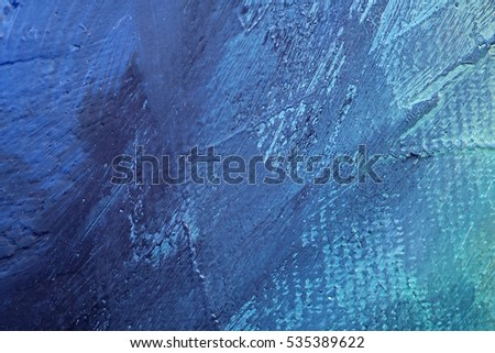 Oil Painting closeup texture background with  blue gray white colors vivid colorful creative detailed vibrant brush strokes  #535389622