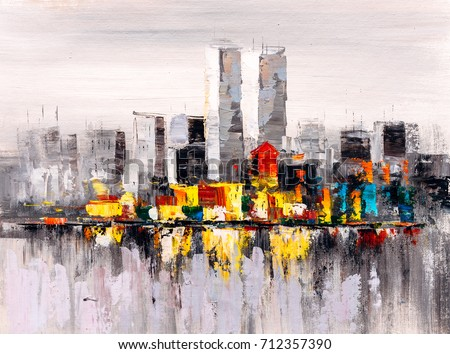 Oil Painting - New York City Skyline
