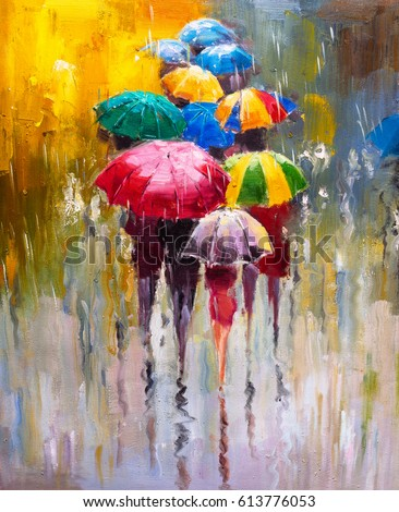 Stock Photo Oil Painting - Rainy Day