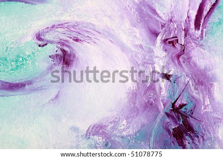 Oil painting with deep violet colors