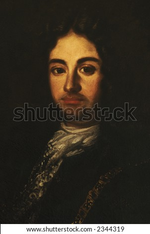 Oil painting with unknown subject from unknown artist, aristocratic man portrait 1600-1700