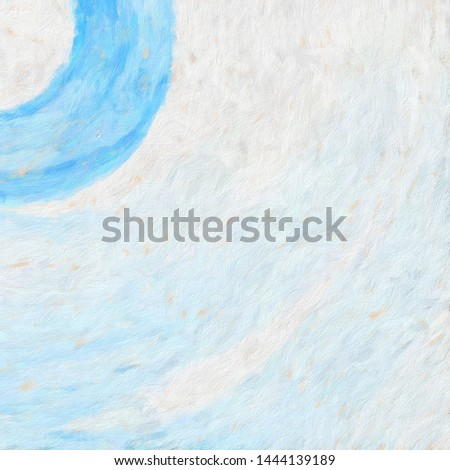Oil pastel drawing. Abstract color background. Fine art print. Impressionism style abstraction. Modern surrealism painting. Good as wall decor poster. Stock. Surreal design. Handmade texture template. #1444139189