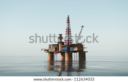 oil platform in the sea