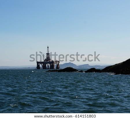 oil platform on the Forth  #614151803