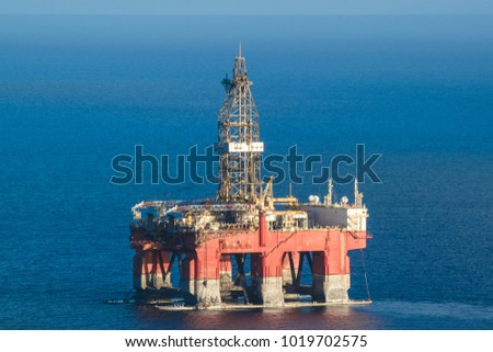 oil platforms in the sea #1019702575
