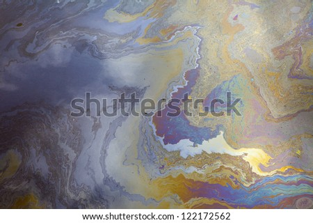Oil pollution - stock photo