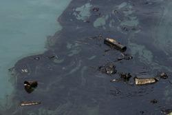 oil polution on the ocean water