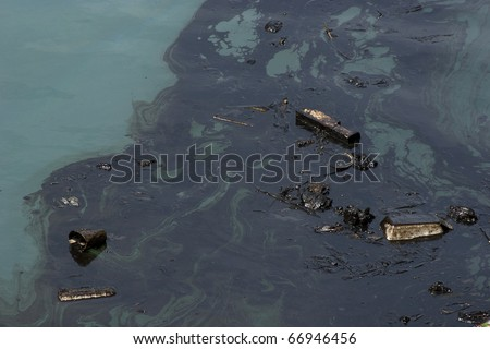 oil polution on the ocean water