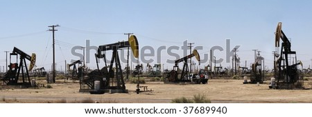 Oil pumps in California Oil industry plant