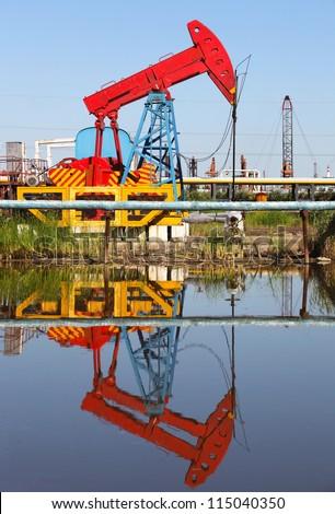 Oil pumps. Oil industry equipment.