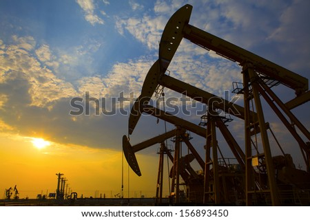 Oil pumps. Oil industry equipment.  #156893450