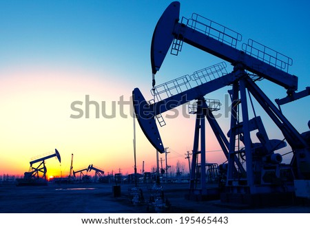 Oil pumps. Oil industry equipment.  #195465443