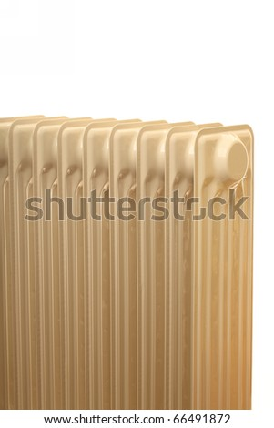 Oil radiator isolated  - Heatings on a white background