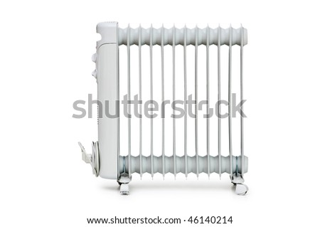 Oil radiator isolated on the white background #46140214