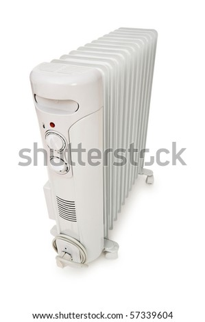 Oil radiator isolated on the white background