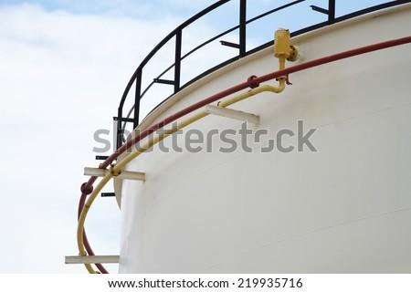 Oil refineries plant , oil tanks
