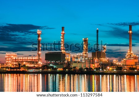 Oil refinery at  Bangkok Thailand