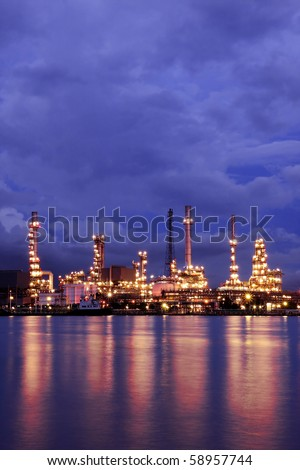 Oil Refinery At Twilight 1