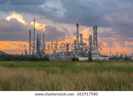 Oil Refinery factory in the morning #361917980