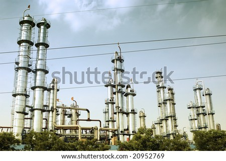 Oil refinery in China