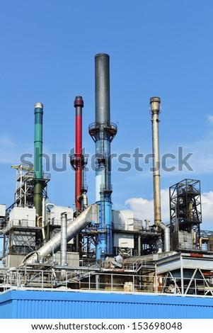 oil refinery in rotterdam harbor