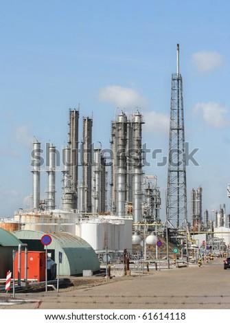Oil refinery in Rotterdam harbor area