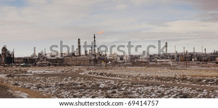 Oil Refinery in Sinclair Wyoming