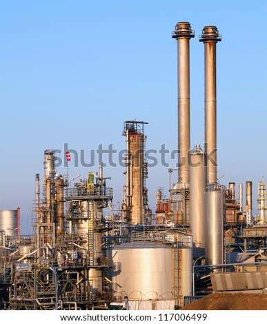 Oil refinery in the day