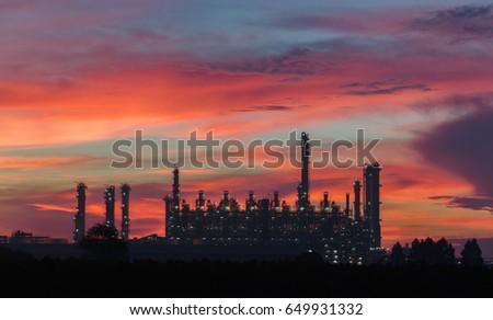 Oil refinery industry #649931332