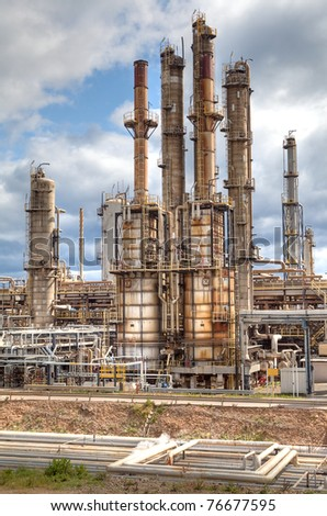 oil refinery petrochemical  chemical industry fuel distillation of petrol global warming industrial architecture