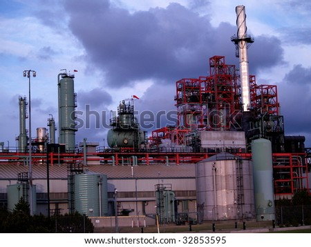 Oil refinery, petrochemical production facility, Edmonton, Alberta